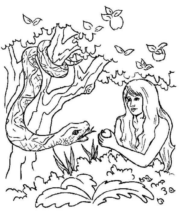 The Serpent In Adam And Eve Coloring Pages