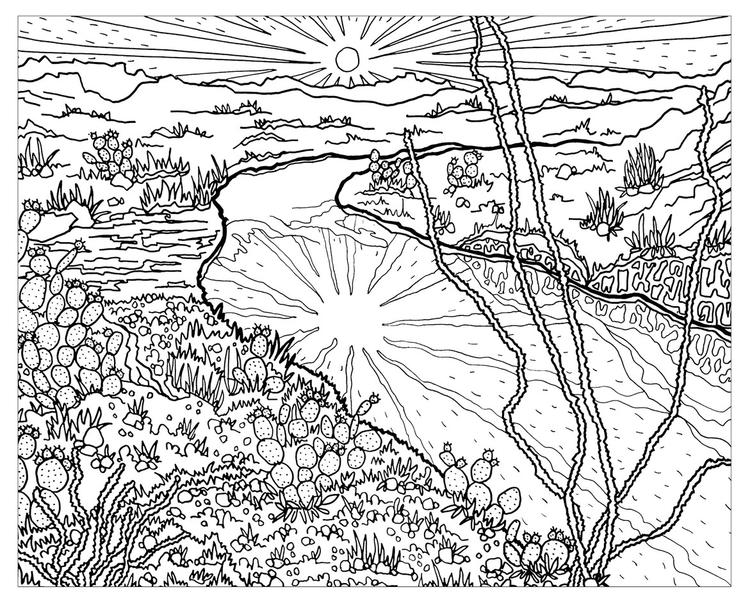 The Sierra Club National Parks Coloring Sheet