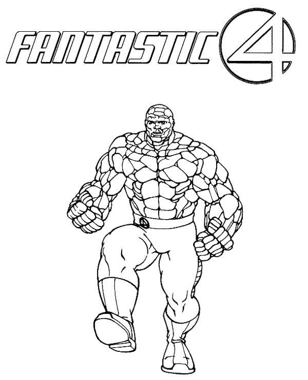 The Strong Thing From Fantastic Four Coloring Pages