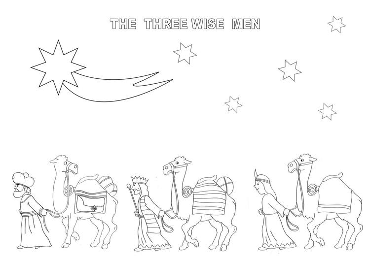 The Three Wise Men Christmas Coloring Pages For Kids