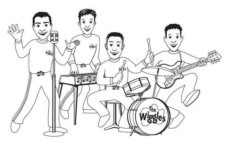 The Wiggles Playing Music Coloring Pages