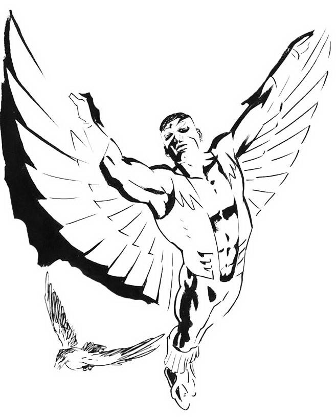 The Falcon Superhero Coloring Books