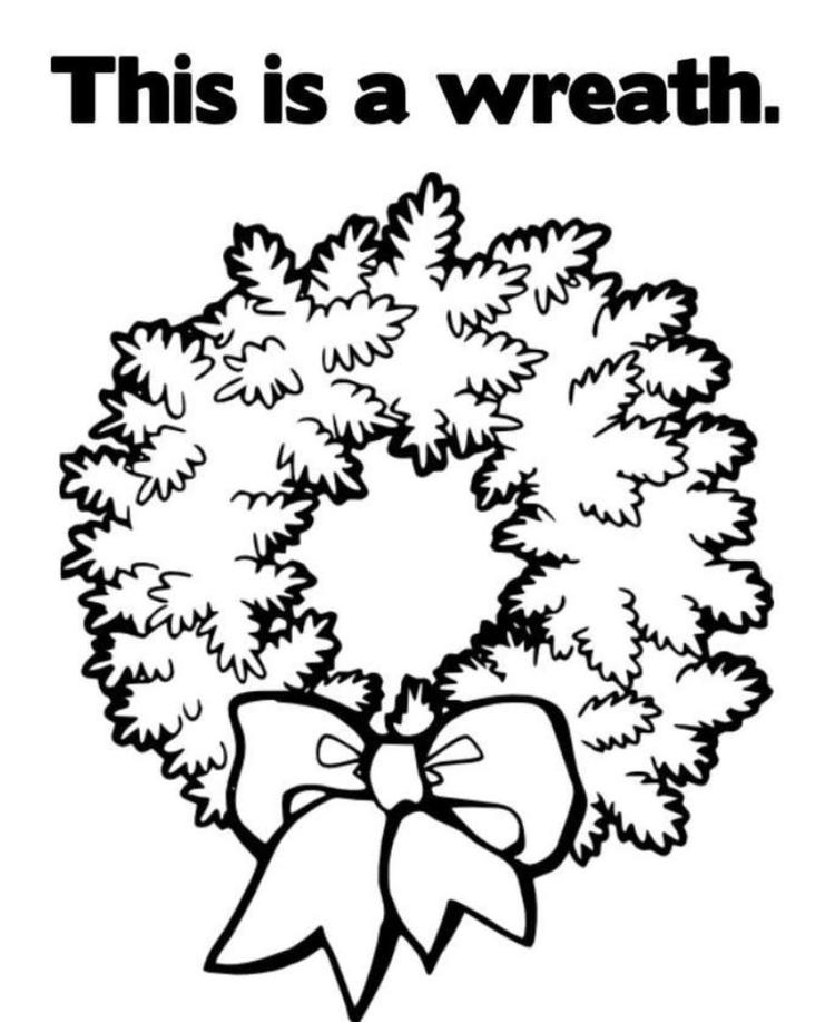 This Is A Wreath Free Coloring Pages For Christmas