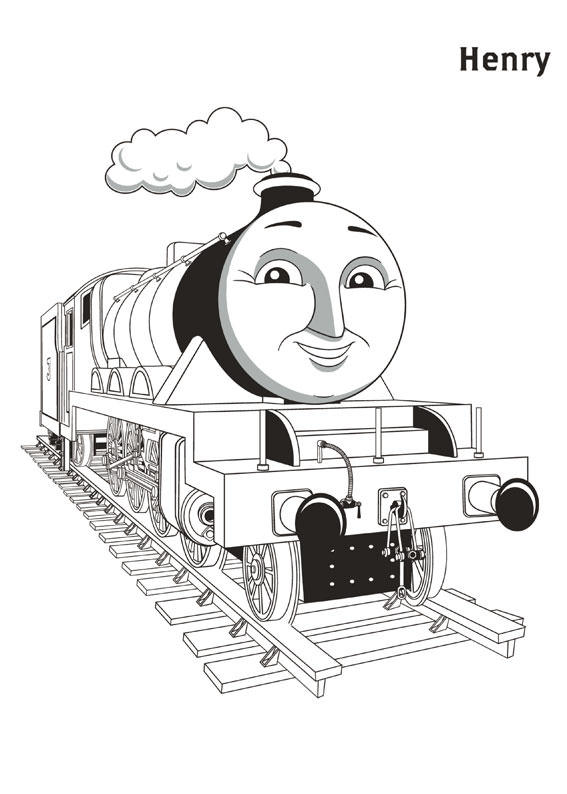 Thomas And Friends Coloring Pages Henry