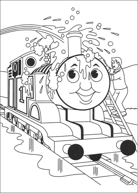Thomas And Friends Coloring Pages Thomas Washed