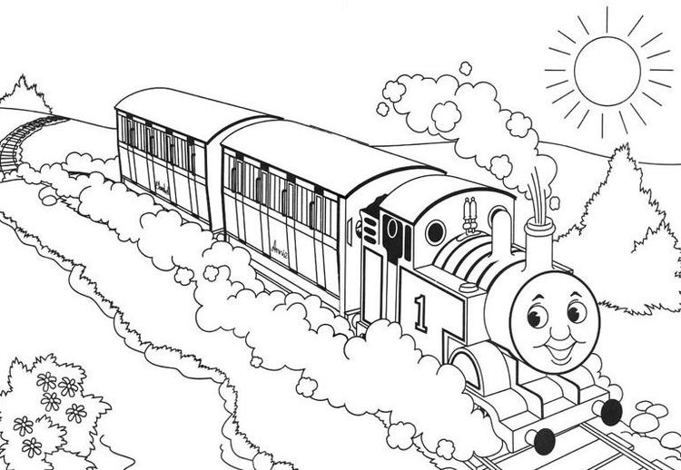 Thomas The Train Coloring Pages For Free