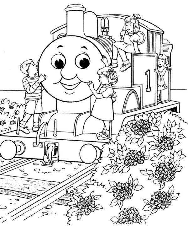 Thomas The Train Coloring Pages Kids