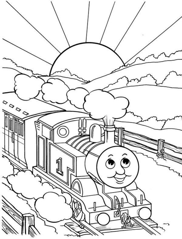 Thomas The Train Tank Engine Coloring Pages
