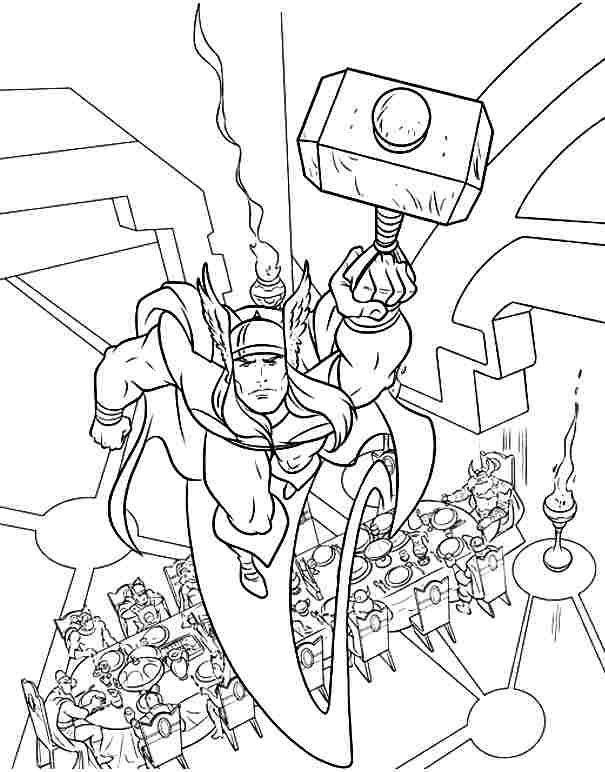 Thor Coloring Pages Free Printable