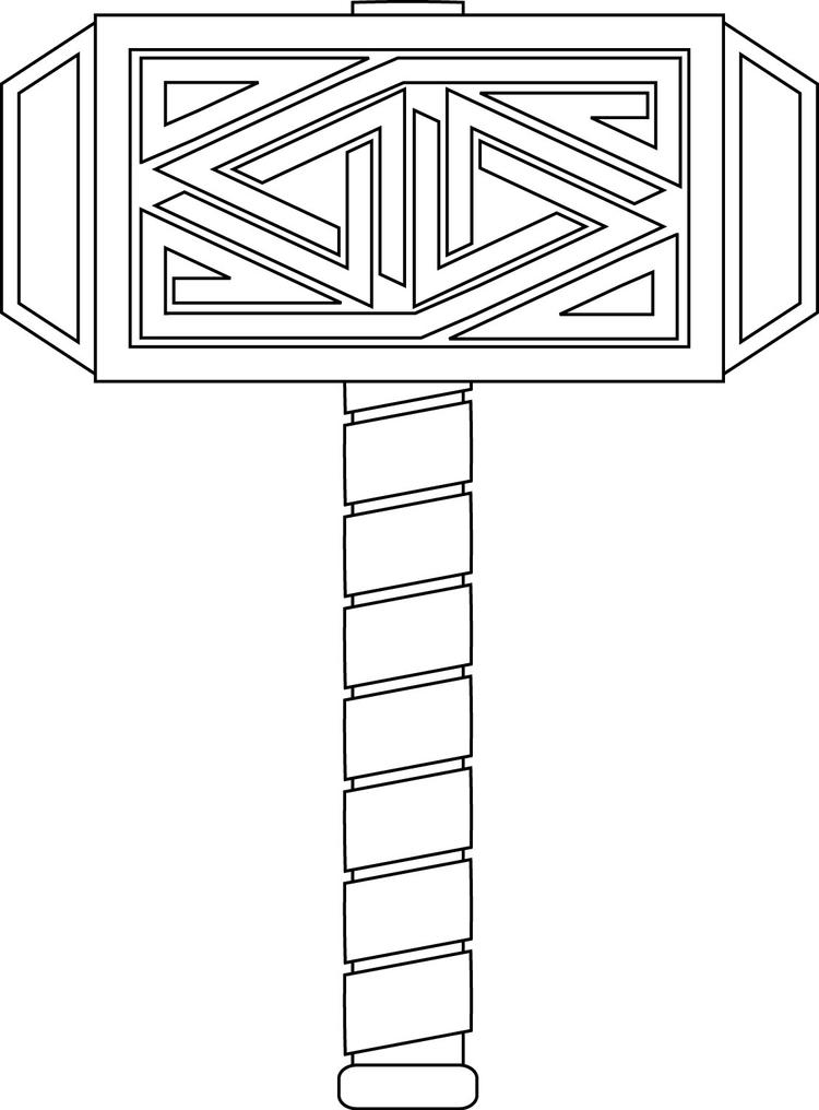 Thor Coloring Pages Hammer