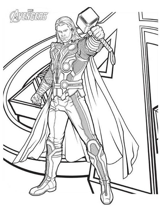 Thor Coloring Pages Marvel