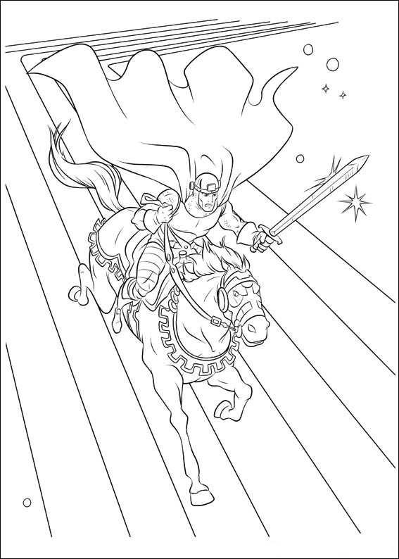 Thor Coloring Pages Riding Horse