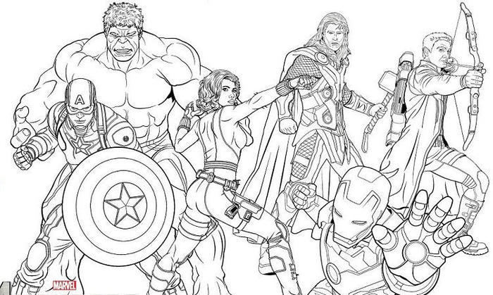 Thor Coloring Pages Superhero Squad