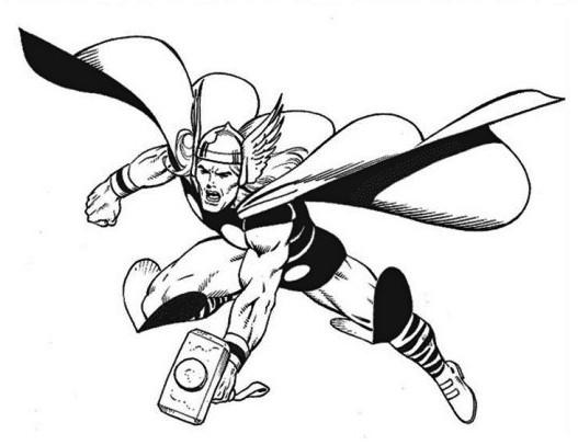 Thor Coloring Pages Superhero Thor Coloring Page The Avengers