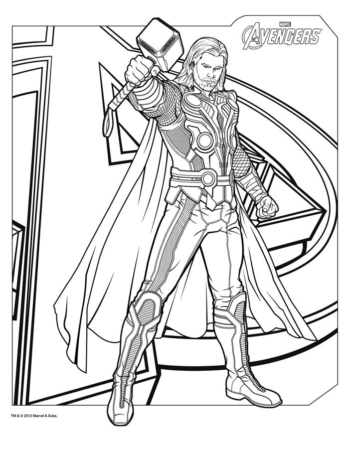 Thor Coloring Pages The Avengers