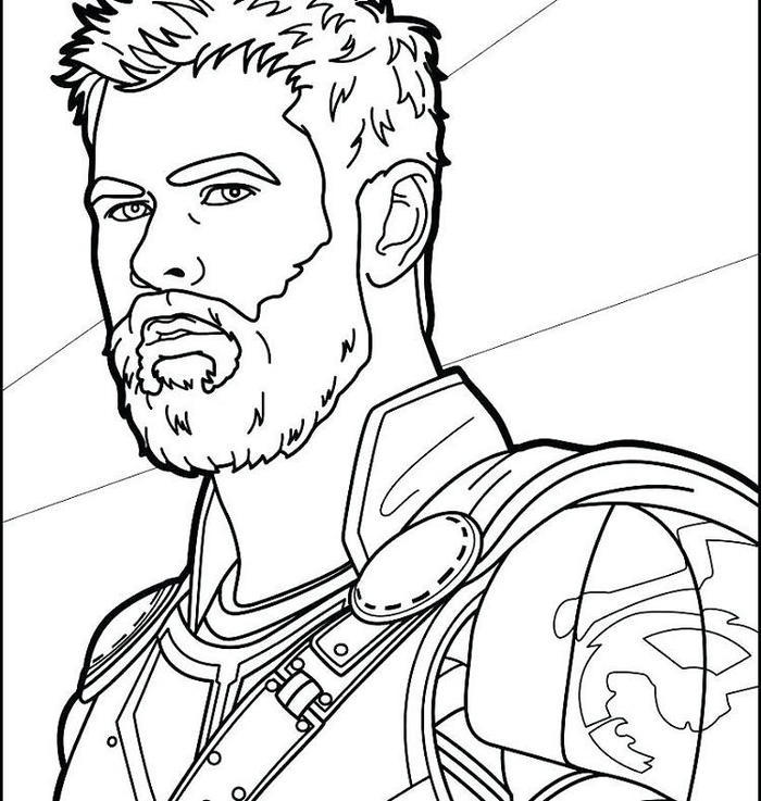 Thor Face Coloring Pages