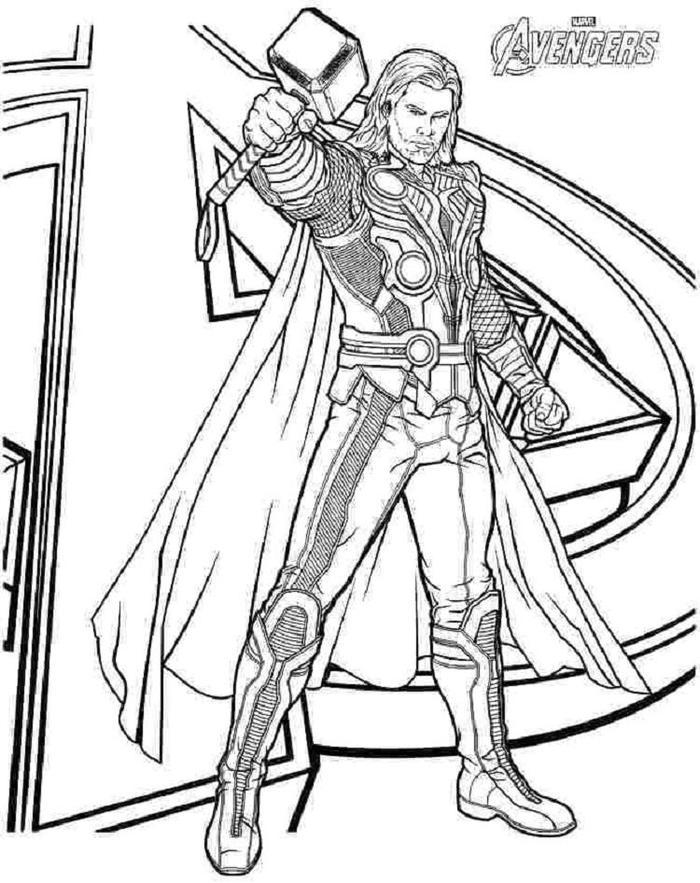 Thor Ragnarok Coloring Pages