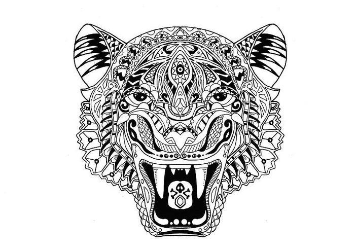 Tiger Mandala Coloring Pages