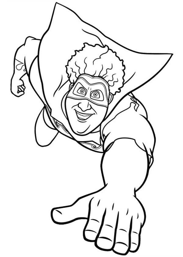 Tighten Flying In Megamind Coloring Pages