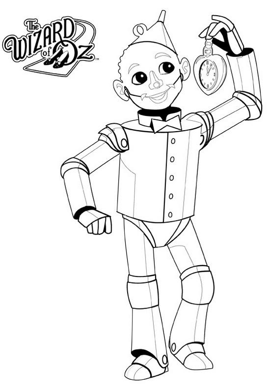 Tin Man From Wizard Of Oz Coloring Page