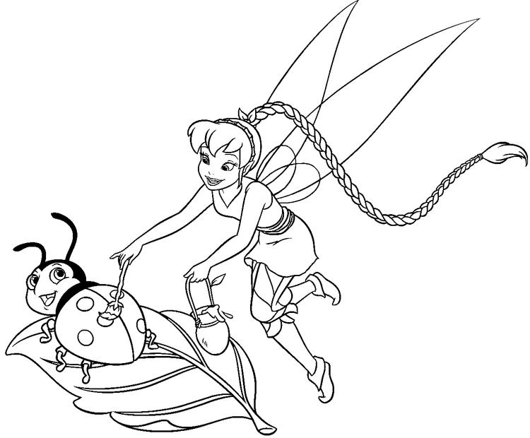 Tinker Bell Coloring Pages 02