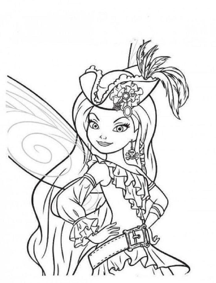 Tinker bell pirate coloring pages