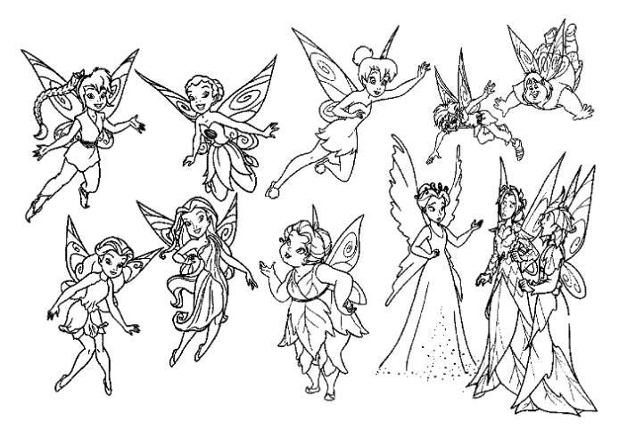 Tinkerbell And Friends Coloring Pages For Girls