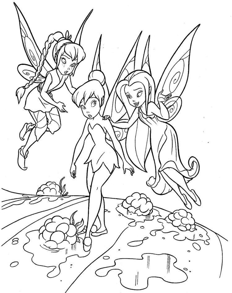 Tinkerbell Coloring Pages Cartoon