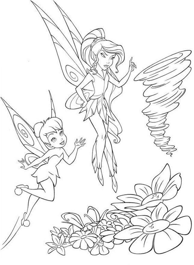 Tinkerbell Coloring Pages Fo Girls