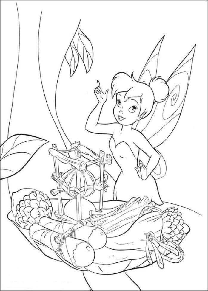 Tinkerbell Coloring Pages In Black And White