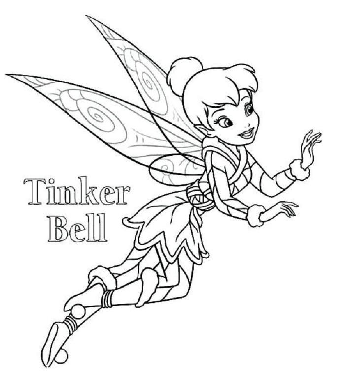 Tinkerbell Coloring Pages Online