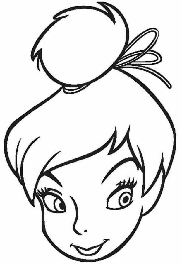 Tinkerbell Head Coloring Pages