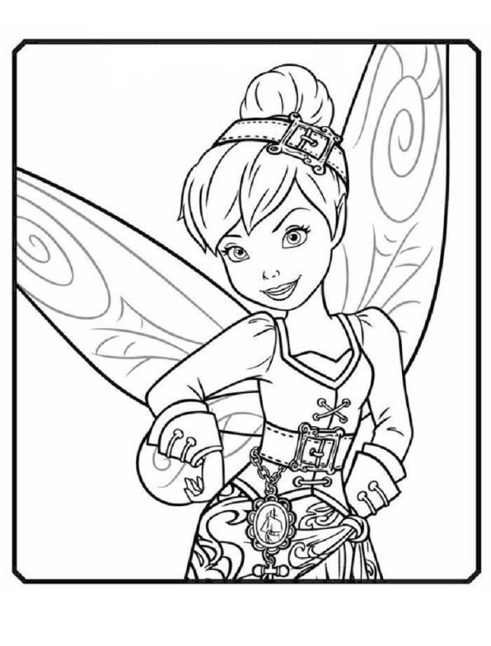 Tinkerbell Pirate Fairy Coloring Pages