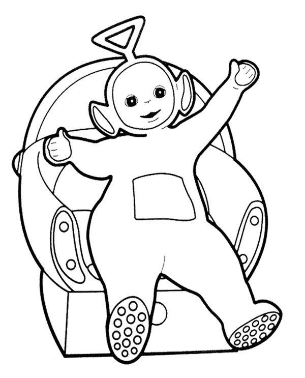 Tinky Winky Coloring Pages Teletubbies