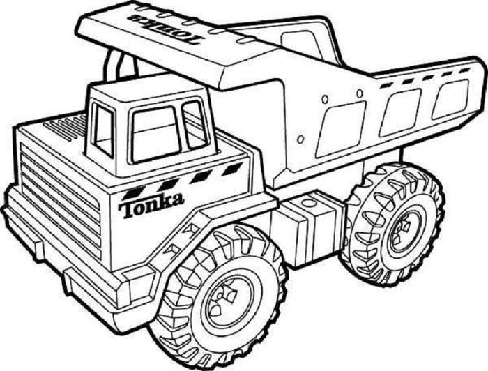 Tipper Truck Coloring Pages