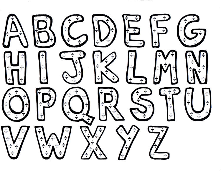 Toddler Alphabet Coloring Pages Free