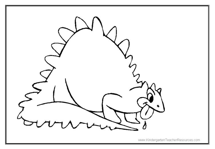 Toddler Dinosaurs Coloring Pages