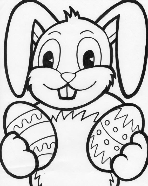 Toddler Easter Coloring Pages Free