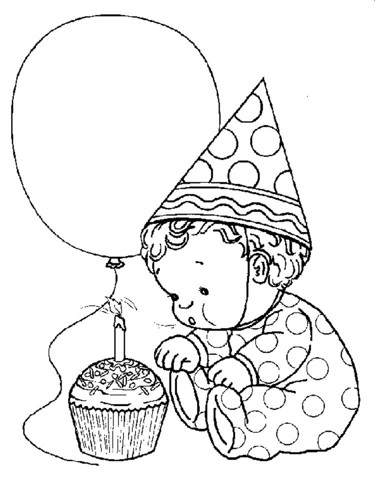Toddler Free Birthday Coloring Pages