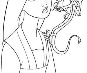 Toddler mulan dress coloring pages