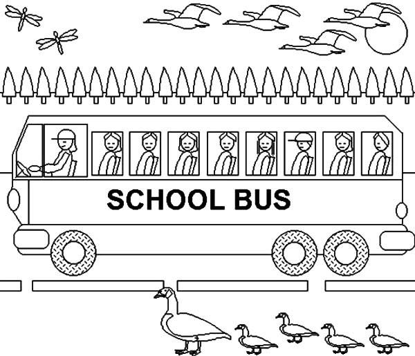 Toddler School Bus Driver Coloring Pages