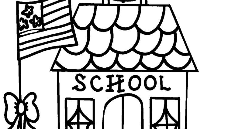 Toddler School House Coloring Pages
