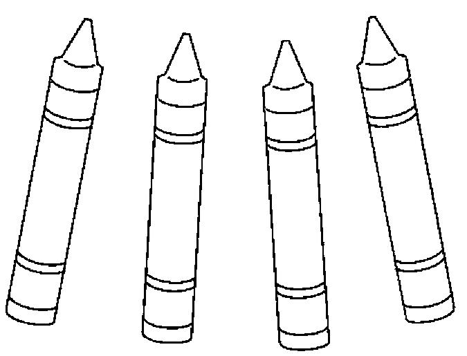 Toddler School Supplies Coloring Pages 1