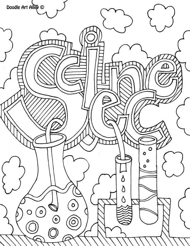 Toddler Science Beaker Coloring Pages