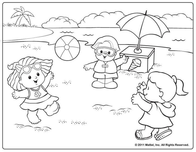 Toddler Summer Coloring Pages Free