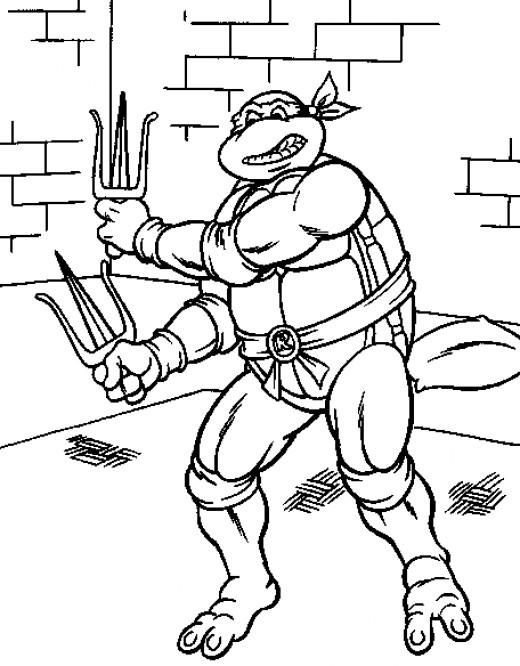 Toddler Teenage Mutant Ninja Turtles Coloring Pages