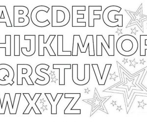 Toddlers coloring pages alphabet