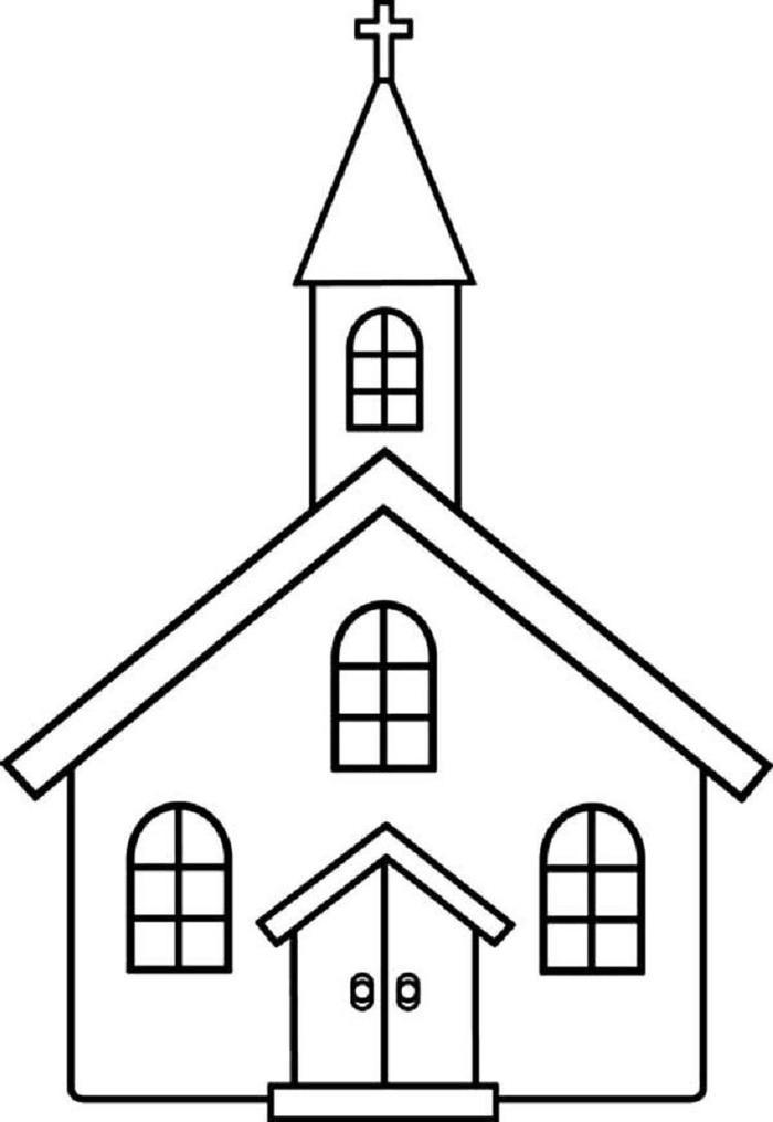 Toddlers Coloring Pages Church