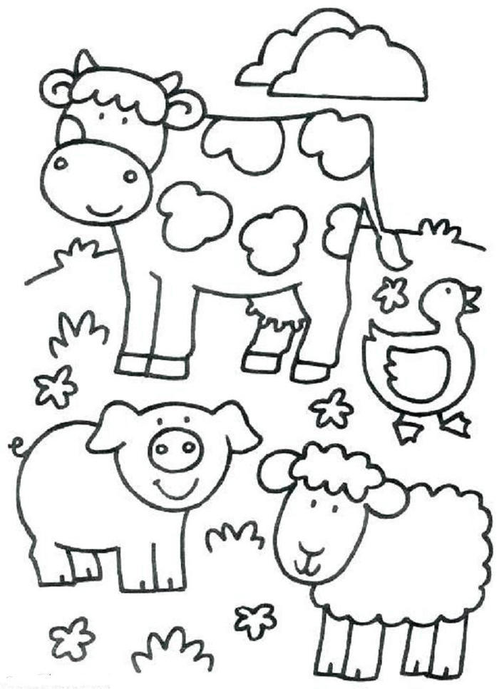 Toddlers Coloring Pages Farm Animals