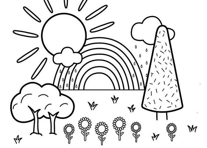 Toddlers Coloring Pages Landcape